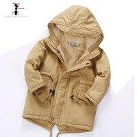 Winter Children Cotton Hooded Full Sleeve Fur Plush Children S Winter Jackets Warm Hot Coat For