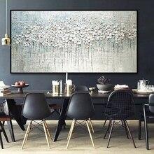 Arthyx поп-арт ручная роспись Толстая палитра нож цветок картина маслом на холсте Абстрактная настенная живопись гостиная домашний Декор стены