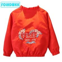 Kids Jacket Girls Spring Summer New Fashion Printed Embroide