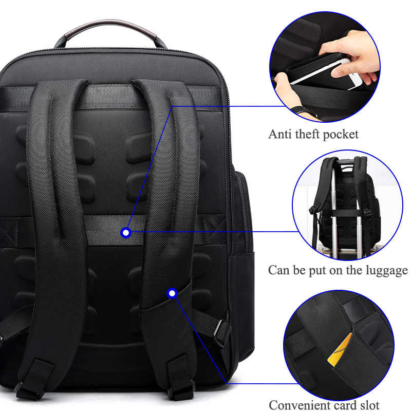 BOPAI, Оксфорд, для путешествий, для ноутбука, мужской рюкзак, Повседневный, деловой, модный, мужской, для офиса, для работы, рюкзак, большой, школьный, для мужчин