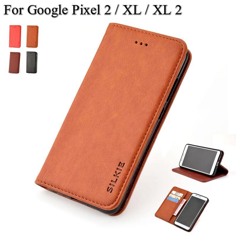 Classic Flip Leather Wallet Case Cover For Google Pixel XL 2 With Card Slot And No Magnet Coque Fundas Para