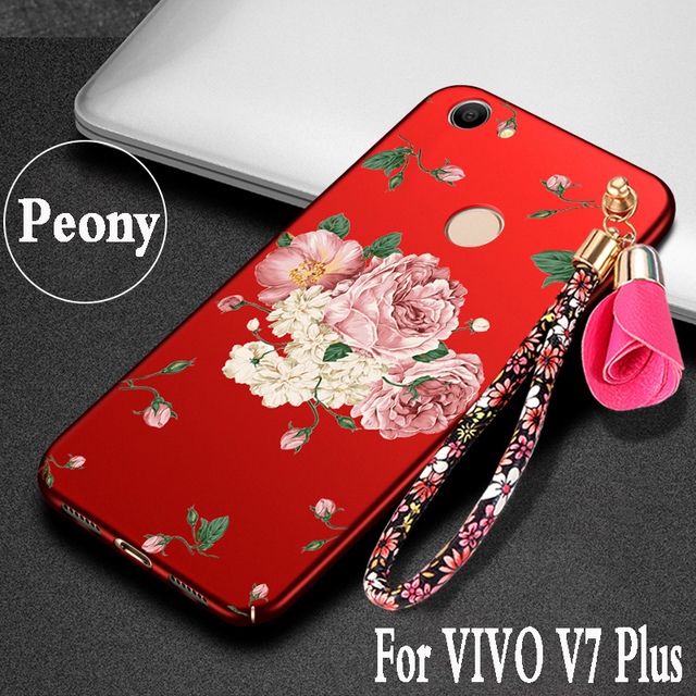 new style 19d5d 53061 US $5.66 |For VIVO V7 Plus case 3D Hard Plastic luxury protection mobile  phone shell for vivo v7 plus cover flowers For VIVO y79 case cute-in Fitted  ...
