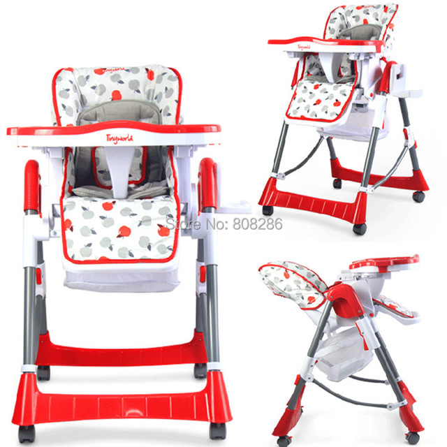 Protable Baby High Chair Multi Function Portable Dining Chair For Children Red  Chair