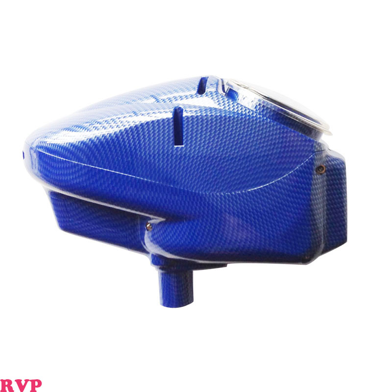 0.68 Paintball Hoppers 180 Ball Capacity For Paintball Balls Automatic Loader Replacement Carbon Fibre Blue Shining Color