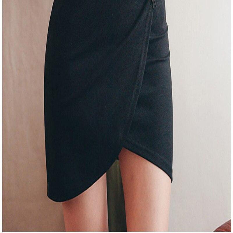 Vestido elegante y sexy para mujer, con cuello en V, ceñido a la cadera, vestido irregular de una pieza para mujer - 6