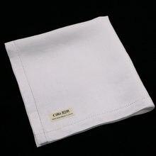 M003: 12 шт белый мужской носовой платок большой 16x16 дюймов
