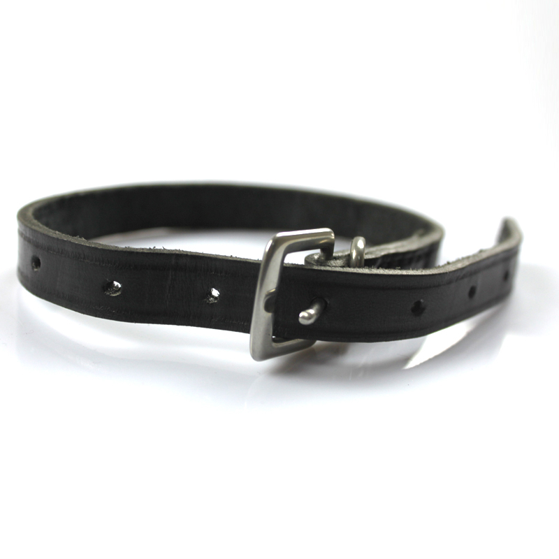 Horse Riding Leather Spur Straps Black Durable Thickened Sturdy 50cm Outdoor Equestrian Accessories With Alloy Buckle