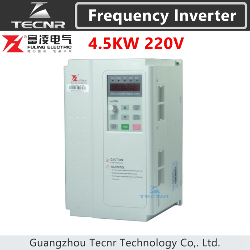 Fuling 4.5KW 5.5KW Frequency Inverter 220V 380V For 4.5KW Spindle Speed Control