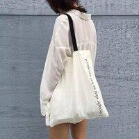 Women Shoulder Bag Letters Printing Canvas Cloth Shopping Bag Large Capacity Shoulder Bag Casaul Tote Bolsa