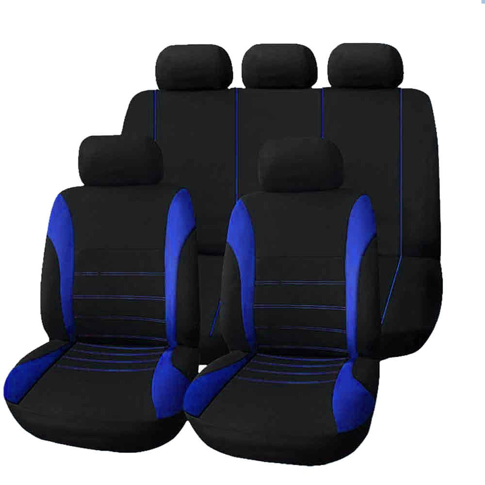 9pcs/ Set Universal Car Seat Cover Full Seat Covers Mesh Sponge for Crossovers Sedans Auto Interior Styling Decoration Protector