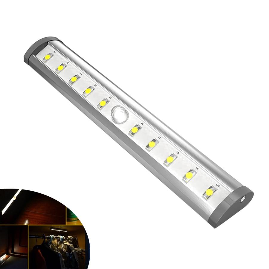 10LED infravörös szekrény projektor PIR mozgásérzékelő fali - Éjjeli fény