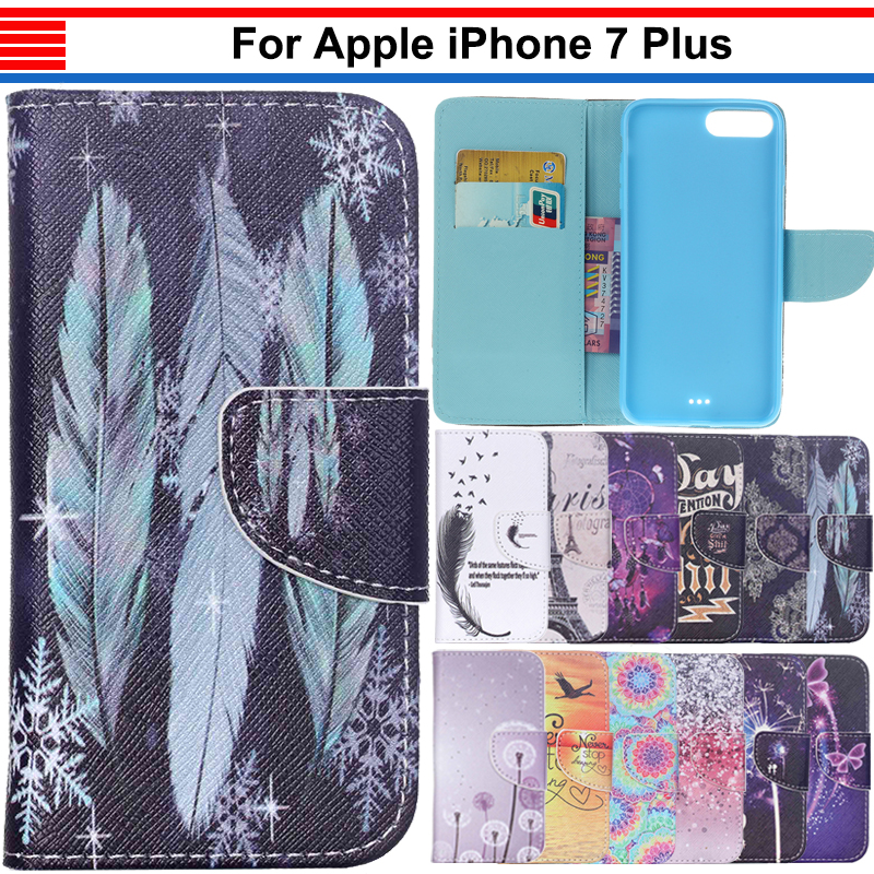 JURCHEN Back Cover Case For iPhone 7 Plus Cover Leather Flip Silicone Soft Phone Case For iPone 7 Plus Case 7Plus iPhone7Plus