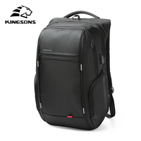 Kingsons External USB Charge Computer Bag Anti Theft Notebook Backpack 13 15 17 Inch Waterproof Laptop