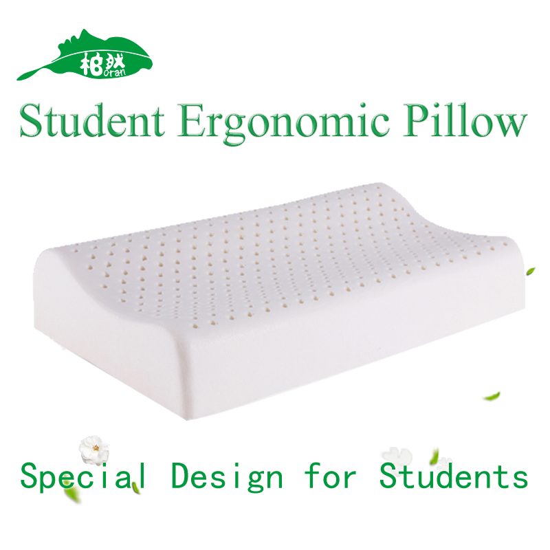 Wholesale Sales Promotion Memory foam pillow font b care b font Orthopedic Latex Students Pillow Fiber