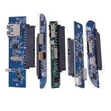 "Usb 3.0 a 2.5 ""sata 7 + 15pin adaptador de disco rígido para sata 3.0 ssd/max 3tb hdd módulo para notebook portátil w2530p1/p2/p3/p4/p5"