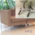 12cm furniture metal table sofa leg cabinet feet satin stainless steel square 4x