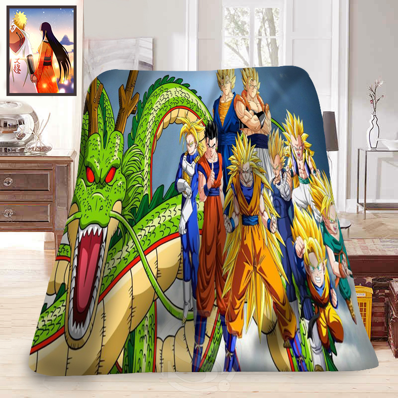 Custom dragon ball z anime blanket 2 soft fleece for Dragon ball z bedroom