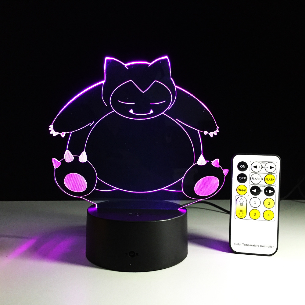 Creative Gifts pokemon Lamp 3D Night Light Robot USB Led Table Desk - Night Lights - Photo 4