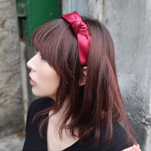 2016 New Hot Sale Fashion Women Sweet Korean Women Girls Bow Knot Wide Bow Ribbon Headband Hair Party Accessories