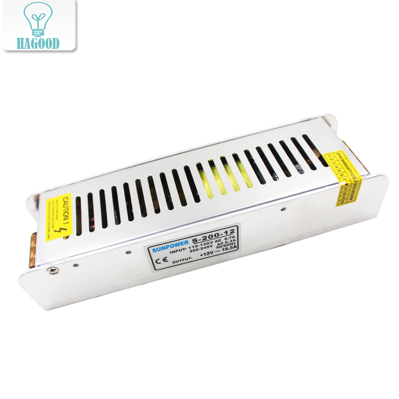 DC12V 200W Lighting Transformer Constant Voltage Power Supply LED Driver Input AC100V-260V Power Adapter Switching for LED Strip dc12v 24v 360w switching power supply driver lighting transformer single output for led light strip display input ac100v 265v
