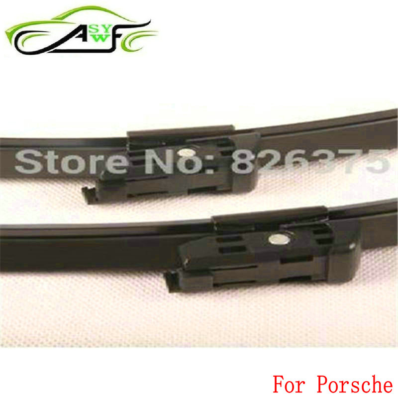 Car wiper blade For Porsche Macan 95B Boxster 981 Panamera 970 2 pieces fit push button type wiper arm(China)