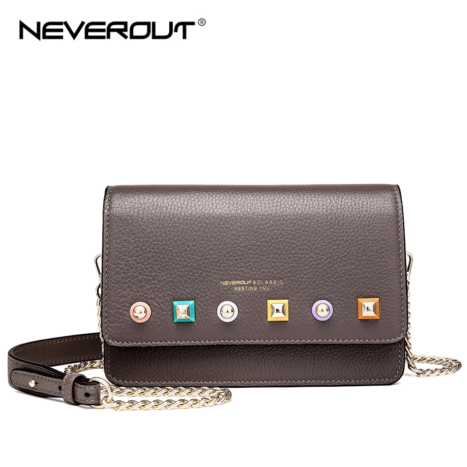NEVEROUT Genuine Leather Bag Soft Leather Ladies Fashion Messenger Bag Small Flap Shoulder Sac Solid High Quality Crossbody BagsNEVEROUT Genuine Leather Bag Soft Leather Ladies Fashion Messenger Bag Small Flap Shoulder Sac Solid High Quality Crossbody Bags