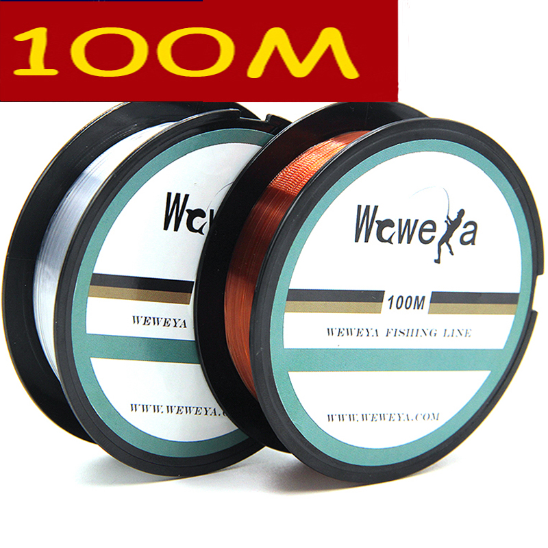 Leo 2018 100M Fluorocarbon Fishing Lines Strong Nylon Monofilament Fishing Line Reservoir Pond Stream Fishing