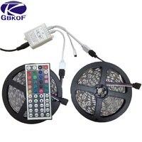 GBKOF Bon 10 m LED strip bande de lumière RGB 5050 SMD 600 Led 12 V 60led/m 2x5 M Non étanche Blanc Chaud Blanc Bleu Rouge Vert couleur