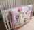 Promoción! 7 unids bordado bebé juego de cama cuna juego de cama i ( parachoques + funda de edredón + cubierta de cama falda de la cama )