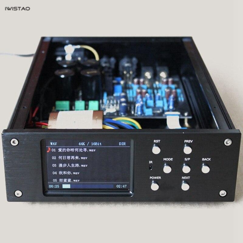 цена на IWISTAO HIFI digital player MCU STM32F407ZET6 Decoder AK4495SEQ Play WAV FLAC APE MP3