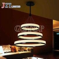 J best price droplight restaurant foyer bedroom dinning room hanging lamp round ring light circular PMMA Acrylic LED chandelier