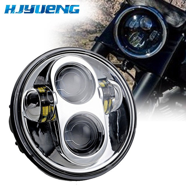 45w for Harley Davidson Waterproof 5.75 Inch Daymaker Round LED  Projector Motorcycle Headlight for Harley Davidson Lights