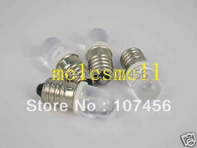 Free Shipping 100pcs White E10 6V Led Bulb Light Lamp For LIONEL 1447