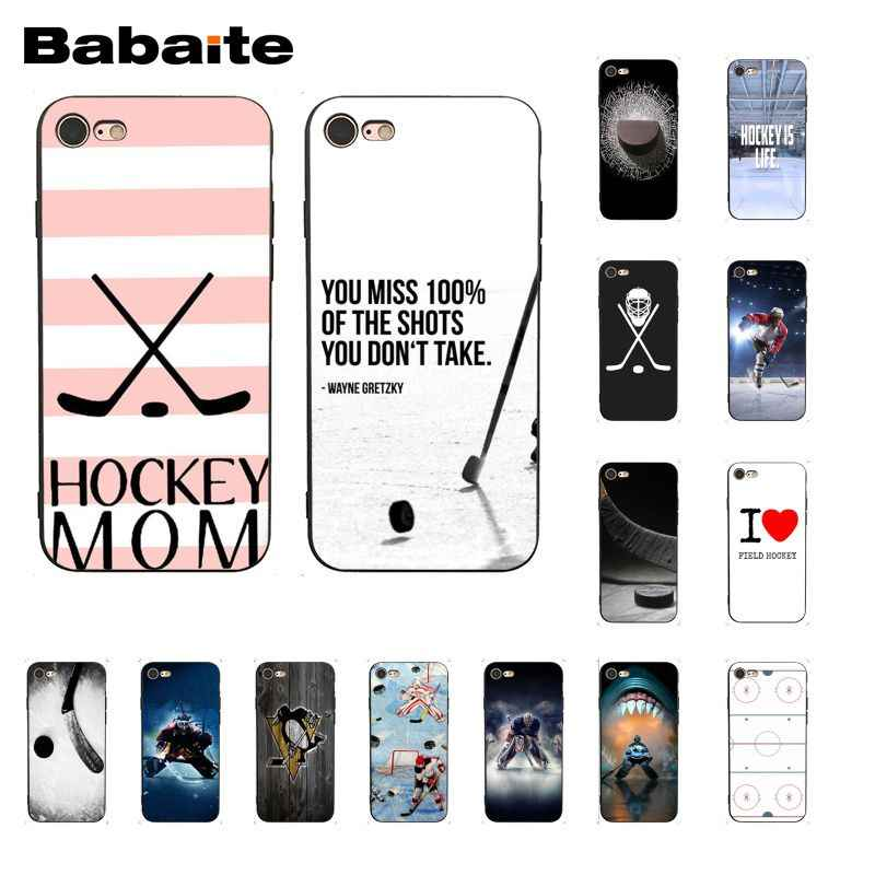 Babaite ice Hockey Rink 스포츠 엄마 전화 케이스 for iphone 11 Pro 11Pro Max 8 7 6 6S Plus X XS MAX 5 5S SE XR