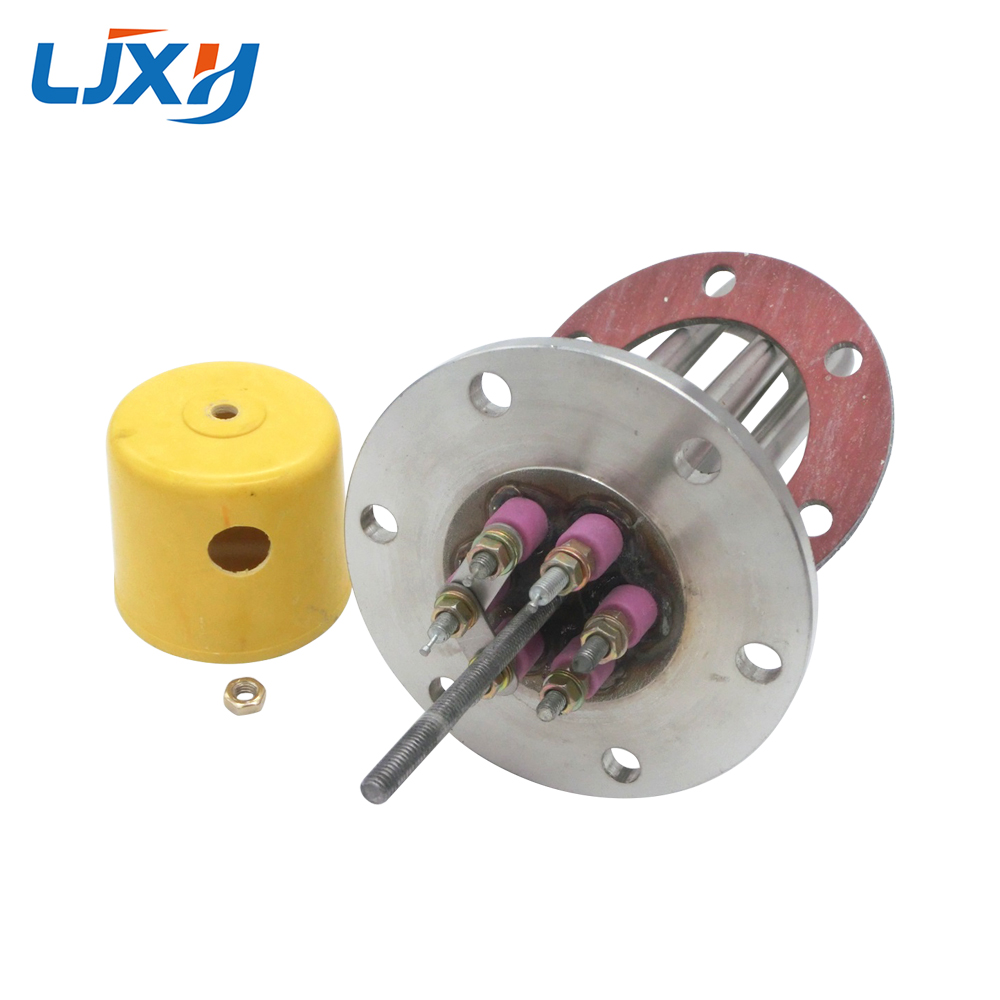 LJXH Water Heater Element Flange Type, 220V/380V 304SUS Heating Pipe for Water Tanks, 12KW/15KW/18KW Power,500/580/660mm Length ljxh 220v 380v heater for water distiller 304 stainless steel heating pipe distilled electric water heating element spare parts