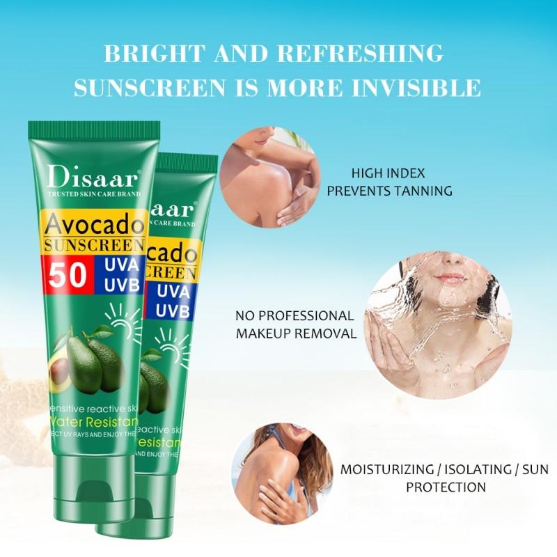 Avocado Sunscreen Moisturizing Hydrating Anti-UV Waterproof Sunscreen Scream Skin Care