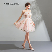 New Arrival 2019 Lovely Homecoming Dresses A Line Spaghetti Straps Custom made Lace Sweet sixteen Mini Junior Dresses