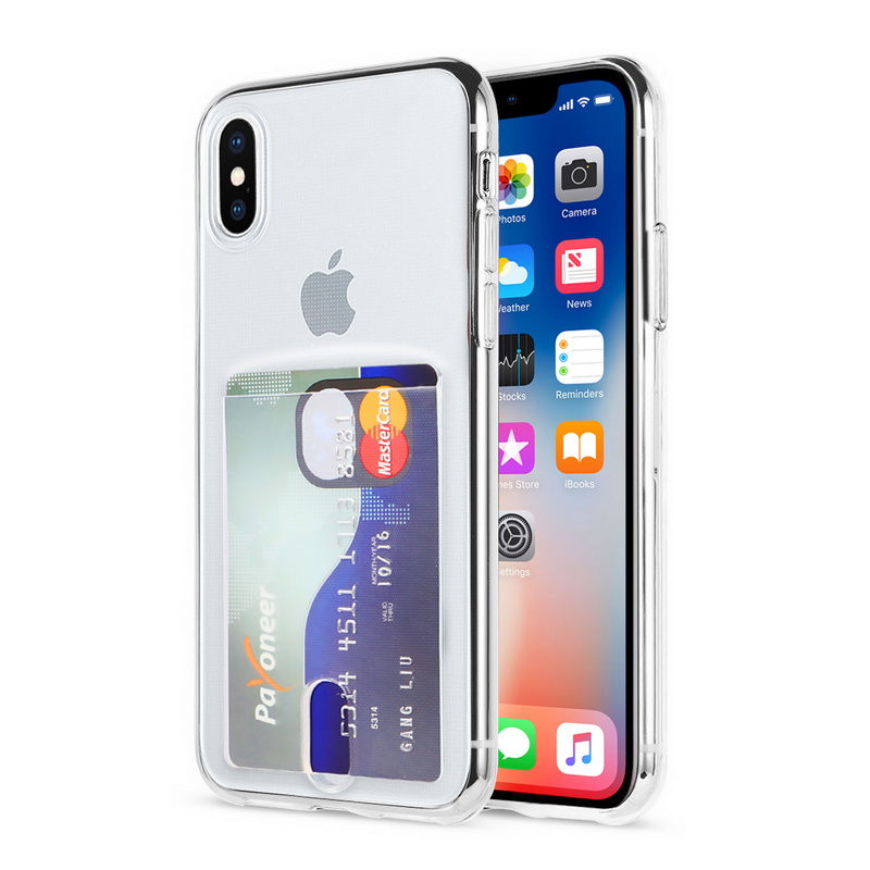 Transparent Soft TPU Card Holder Case for iPhone 11/11 Pro/11 Pro Max 3