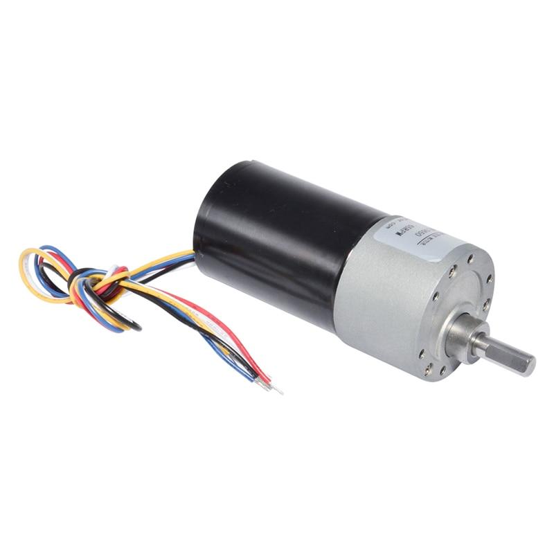 37GB3650 DC Brushless Gear Motor 12Volt 24Volt 10/20/35/65/100/150/200/300/600/1000 Speed Option Diameter 37mm Motors For DIY