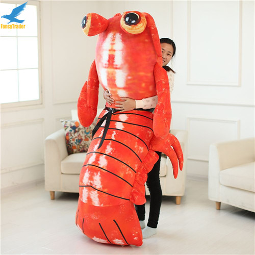Fancytrader Jumbo Pop Anime Mantis Shrimp Plush Toy Giant Stuffed Soft Simulated Sea Animals Lobster Doll for Adult and Children (2)