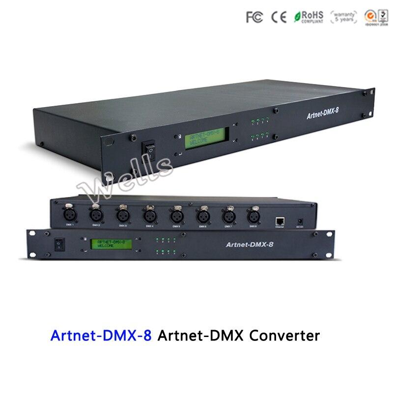 Artnet-DMX-8;convert the Artnet network data package into DMX512 data;512channel*8 ports output ArtNet into DMX converter fast shipping fast shipping ltech dc12v artnet dmx converter artnet dmx 2 artnet input dmx 1024 channels output 512 2ch channels