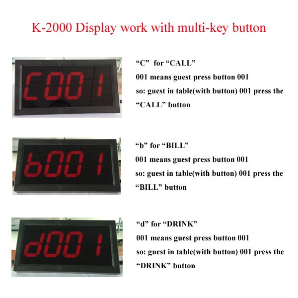 K-2000 display work with buttons