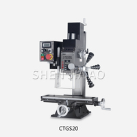 CTGS20 Multifunction Micro-machine Tool Drilling & Milling Machine Desktop Micro Drill Milling Machine 220V Drill Mill Machine
