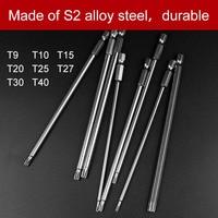8Pcs T9 T40 150mm Lenght Magnetic Torx Screwdriver Bits 1 4 Hex Shank S2 Steel Electric