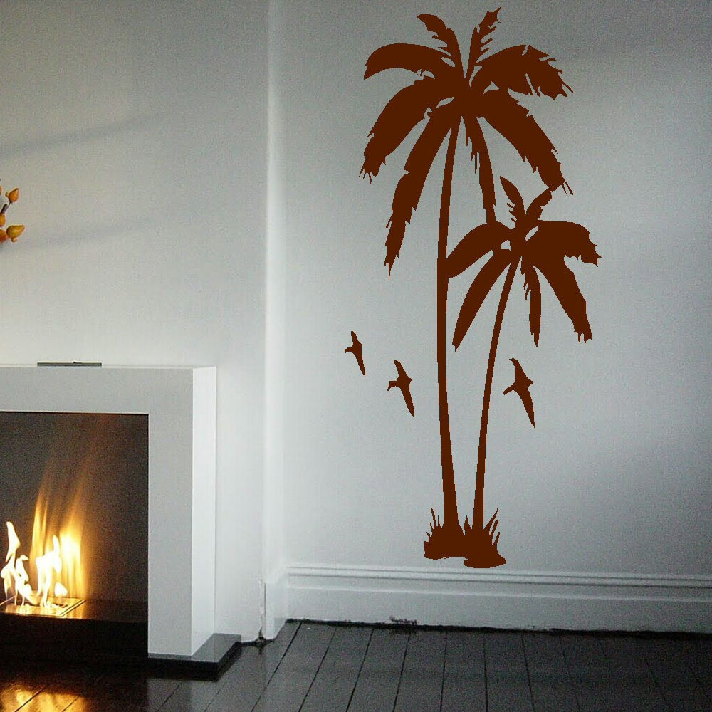 Huge palm tree hall bedroom wall art mural giant graphic sticker please choose the color and size you like according to amipublicfo Image collections