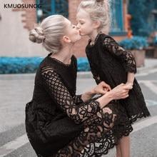 Новые платья для мамы и дочки Осенняя свадебная одежда «Мама и я» кружевное платье принцессы для мамы и дочки семейное свадебное платье C0248