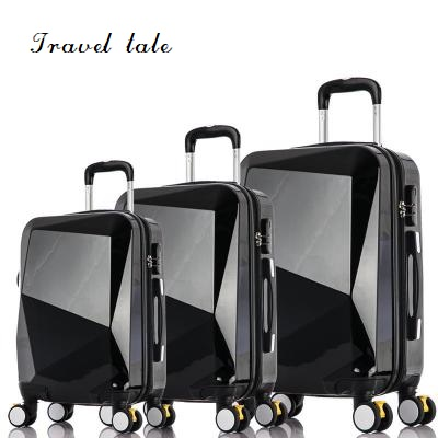 Travel Tale Bright Surface,mirror, Simple, Cutting Style PC Rolling Luggage Spinner Brand Travel Suitcase 20