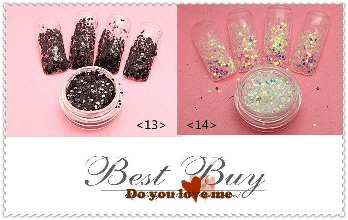 Best China Nail Art Glitter Powder For 16 Glaze Colors Polish Uv Lamp Lacquer Gel Soak Off In From Beauty