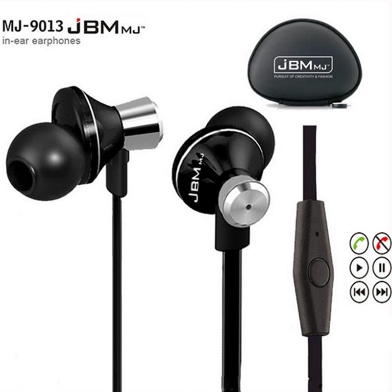Original JBM MJ-9013 In Ear Headphones HiFi Stereo Headset With Microphone Clear Sound In-ear Earphone jbm e 611 3 5mm plug in ear earphone deep pink 120cm cable
