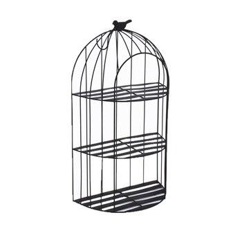 Soporte de metal para maceta colgante Estilo nórdico jaula para pájaros soporte de pared maceta suculenta para flores estante de almacenamiento Soportes para plantas